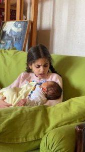 გოგონას ნიკა დაარქვეს - გიორგი მახარაძე შვილის პირველ ფოტოებს აქვეყნებს